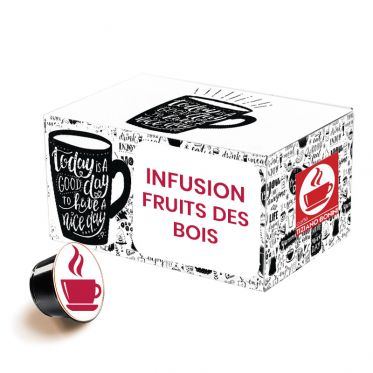 Capsule Dolce Gusto Compatible Infusion Caffè Bonini Fruits des bois - 32 capsules