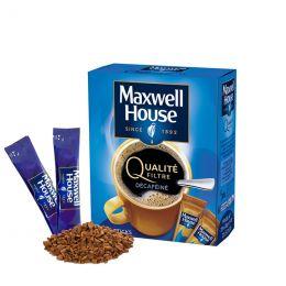Café Soluble Maxwell House Qualité Filtre Décaféiné - 25 sticks
