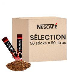 Café Soluble Nescafé® Sélection - 50 sticks pour 50 litres