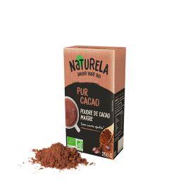 Chocolat Chaud Bio Naturela Pur Cacao sans sucres ajoutés - 250 gr