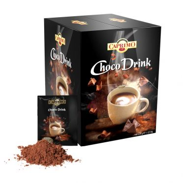 Chocolat Chaud Caprimo Hot Chocolate Choco Drink - Boîte distributrice - 100 dosettes individuelles