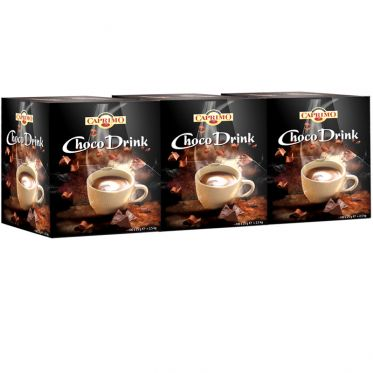 Chocolat Chaud Caprimo Hot Chocolate Choco Drink - 3 boîtes distributrices - 300 dosettes individuelles