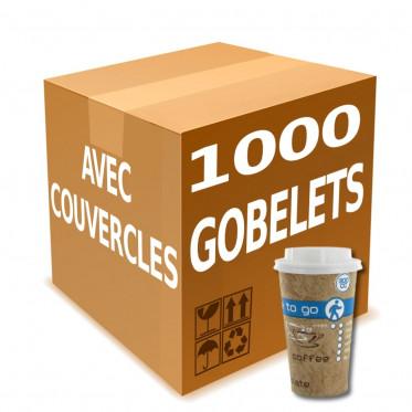 Gobelet en Gros en Carton avec couvercles Coffee To Go 30 cl - par 1000