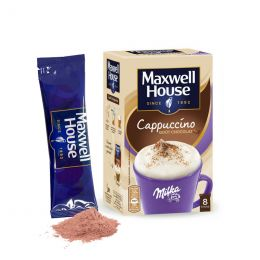 Cappuccino Maxwell House Milka - 8 dosettes individuelles