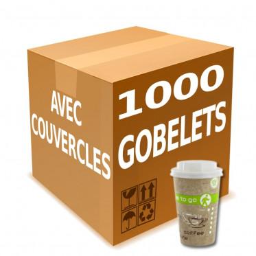 Gobelet en Gros en Carton avec couvercles Coffee To Go 25 cl - par 1000