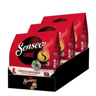 Dosette Senseo Café Corsé - 3 paquets - 54 dosettes compostables
