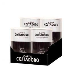 Café Moulu Costadoro Arabica Espresso - 4 boites métal - 1 Kg