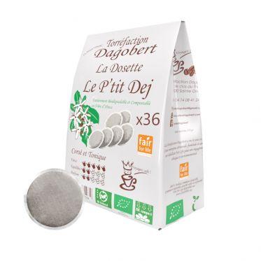 Dosette Senseo compatible Café Dagobert Bio Petit Déj - 36 dosettes