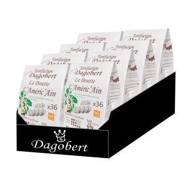 Dosette Senseo compatible Café Dagobert Bio Améric'Ain - 8 paquets - 288 dosettes