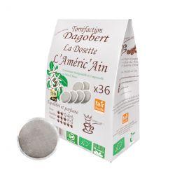 Dosette Senseo compatible Café Dagobert Bio Améric'Ain - 36 dosettes
