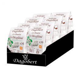 Dosette Senseo compatible Café Dagobert Bio Décaféiné à l'eau - 8 paquets - 288 dosettes