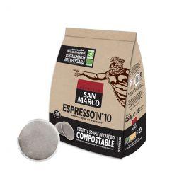Dosette Senseo compatible Café Bio San Marco Espresso n°10 - 36 dosettes compostables