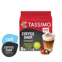 Capsule Tassimo Coffee Shop Latte Praliné Noisette - 8 boissons