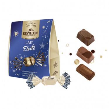 Pochette de Papillotes Révillon : chocolat Lait Etoilé - 365 gr