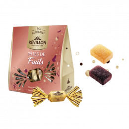 Pochette de Papillotes Révillon : Pâtes de fruits - 280 gr