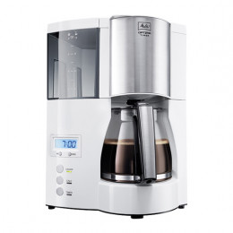Cafetière filtre Melitta Optima Timer Blanc avec programmation