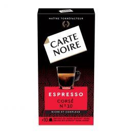 Capsule Nespresso Compatible Carte Noire Corsé n°10 - 10 capsules