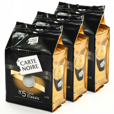 Dosette Souple Carte Noire n°5 Café Classic 3 paquets - 108 pads
