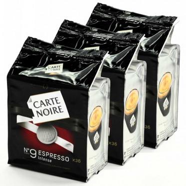 Dosette Souple Carte Noire n°9 Espresso Intense 3 paquets - 108 pads