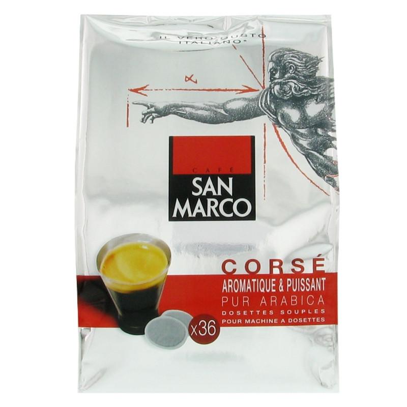 Dosette souple san marco cors 3 paquets 108 pads - Machine a cafe pour dosette souple ...