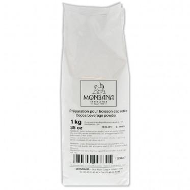 Chocolat Chaud Poudre Monbana Arôme Cacao - 1 Kg