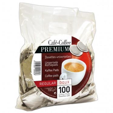 pack de 100 dosettes souples caf premium regular. Black Bedroom Furniture Sets. Home Design Ideas