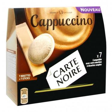 dosette souple carte noire cappuccino 7 boissons. Black Bedroom Furniture Sets. Home Design Ideas