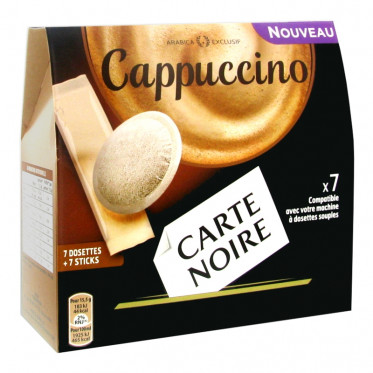 Dosette Souple Carte Noire Cappuccino - 7 boissons