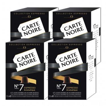"""Capsule Nespresso Compatible Carte Noire n°7 Espresso """"Aromatique"""" 4 boites - 40 capsules"""