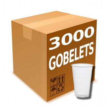 Gobelet en Gros à eau en Plastique Transparent 20 cl - par 3000