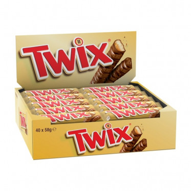 Barre Chocolatée en Gros : Twix - boite de 32 barres
