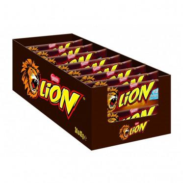 Barre Chocolatée en Gros : Lion - boite de 24 barres
