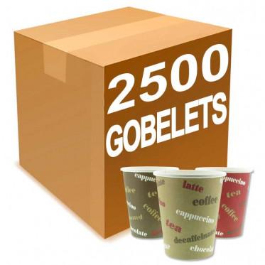 Gobelet Distributeur Automatique en Carton Rainbow 18 cl - par 2500