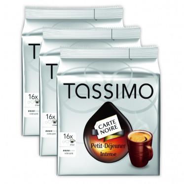 Capsule Tassimo Carte Noire Petit Déjeuner Intense 3 paquets - 48 T-Discs