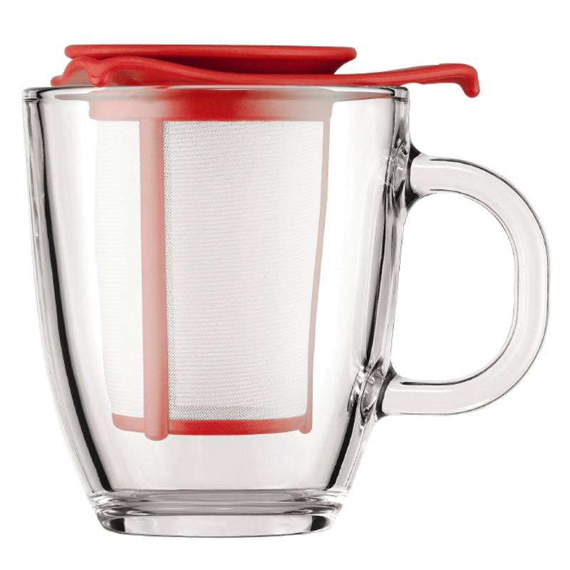 tasse bodum yo yo set mug avec filtre rouge 30 cl l 39 unit coffee webstore. Black Bedroom Furniture Sets. Home Design Ideas