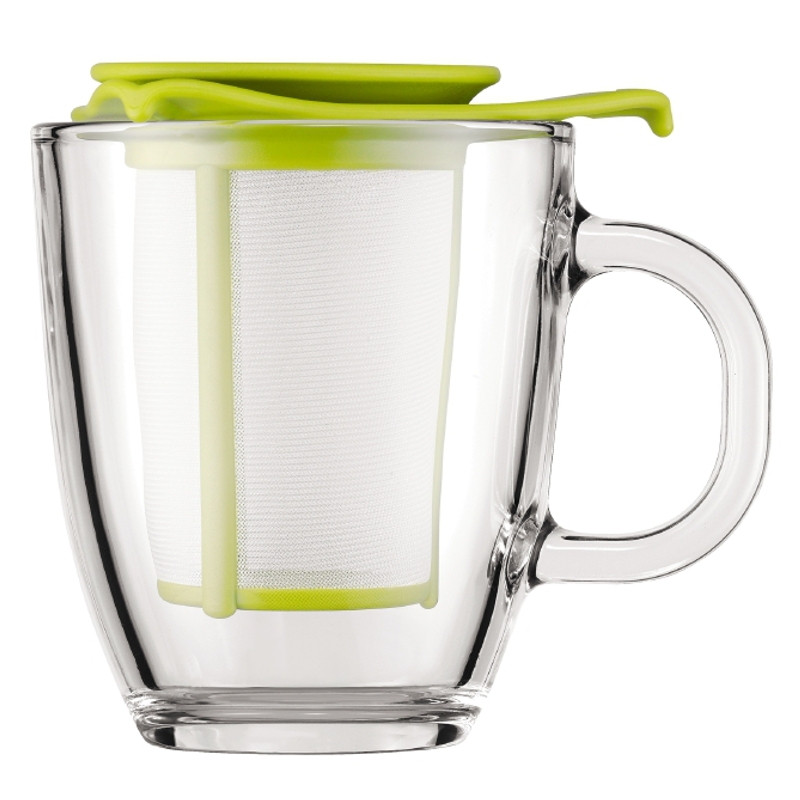 tasse bodum yo yo set mug avec filtre vert 30 cl l 39 unit. Black Bedroom Furniture Sets. Home Design Ideas