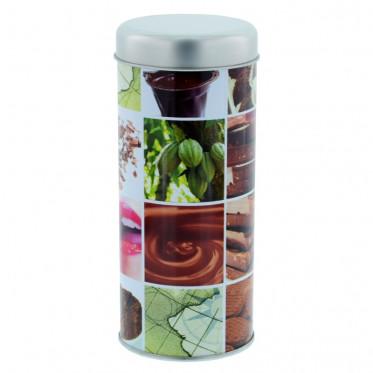 """Boite de conservation pour Dosettes """"Damier"""" : Choco - environ 28 dosettes"""