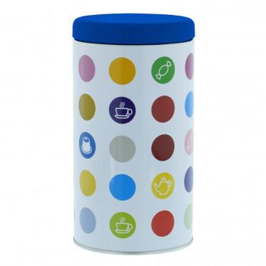 """Boite de conservation pour Café """"Confettis"""" : Bleu - 500 gr"""