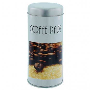 """Boite de conservation pour Dosettes """"Instant Café"""" : Décor Grains - environ 28 dosettes"""