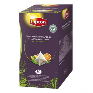 Thé Aromatisé Lipton Trendy T Mandarine - Orange Pyramides - 30 sachets