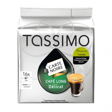 Capsule Tassimo Carte Noire Café Long Délicat - 16 T-Discs