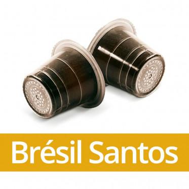 Capsule Nespresso Compatible Capsulo Brésil Santos - 50 capsules