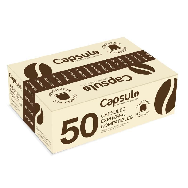 capsule nespresso compatible capsulo intenso 50 capsules. Black Bedroom Furniture Sets. Home Design Ideas