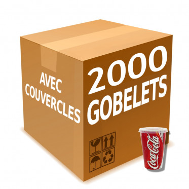 Gobelet en Gros en Carton avec couvercles Coca Cola 30 cl - par 2000
