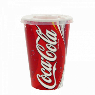 gobelet en carton coca cola 40 cl avec couvercles par 100 coffee webstore. Black Bedroom Furniture Sets. Home Design Ideas