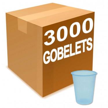 gobelet en gros eau en plastique bleu transparent 20 cl par 3000 coffee webstore. Black Bedroom Furniture Sets. Home Design Ideas