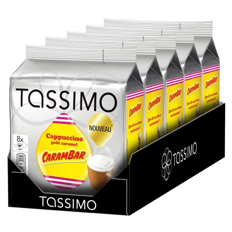 capsule tassimo cappuccino go t carambar 5 paquets 40 t discs coffee webstore. Black Bedroom Furniture Sets. Home Design Ideas