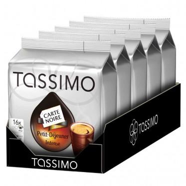 Capsule Tassimo Carte Noire Petit Déjeuner Intense 5 paquets - 80 T-Discs