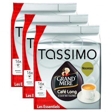 Capsule Tassimo Grand'Mère Café Long 3 paquets - 48 T-Discs