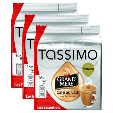 Capsule Tassimo Grand'Mère Café au Lait 3 paquets - 48 T-Discs